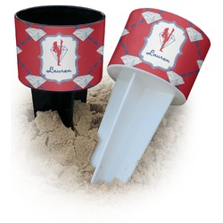 Red Diamond Dancers Beach Spiker Drink Holder (Personalized)