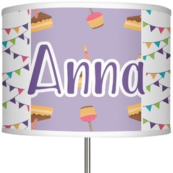 """Happy Birthday 13"""" Drum Lamp Shade Polyester (Personalized)"""
