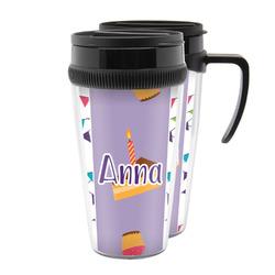 Happy Birthday Acrylic Travel Mugs (Personalized)
