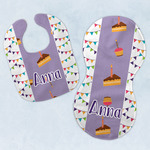 Happy Birthday Baby Bib & Burp Set w/ Name or Text