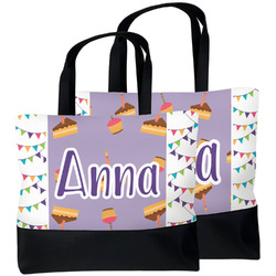 Happy Birthday Beach Tote Bag (Personalized)