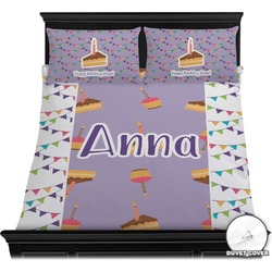 Happy Birthday Duvet Cover Set (Personalized)