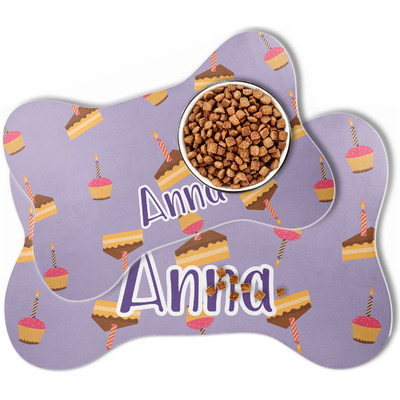 Happy Birthday Bone Shaped Dog Food Mat (Personalized)