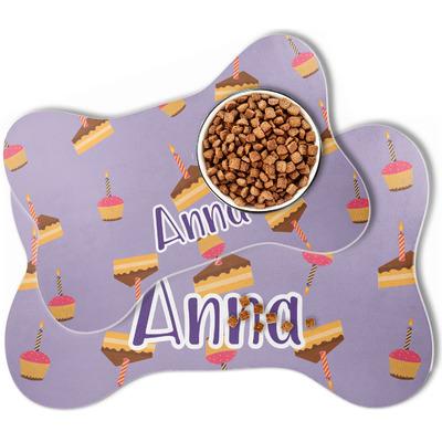 Happy Birthday Bone Shaped Dog Food Mat (Personalized)