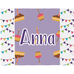 Happy Birthday Woven Fabric Placemat - Twill w/ Name or Text