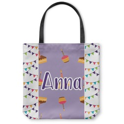 """Happy Birthday Canvas Tote Bag - Large - 18""""x18"""" (Personalized)"""