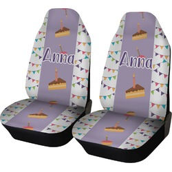 Happy Birthday Car Seat Covers (Set of Two) (Personalized)