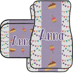 Happy Birthday Car Floor Mats Set - 2 Front & 2 Back (Personalized)