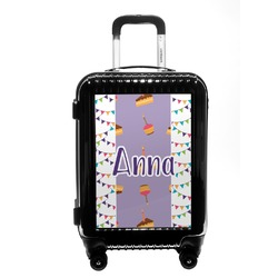 Happy Birthday Carry On Hard Shell Suitcase (Personalized)