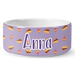 Happy Birthday Ceramic Dog Bowl (Personalized)
