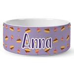 Happy Birthday Ceramic Dog Bowl (Personalized)