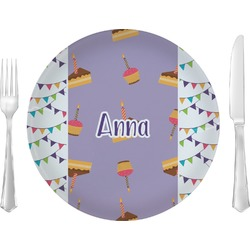 """Happy Birthday 10"""" Glass Lunch / Dinner Plates - Single or Set (Personalized)"""