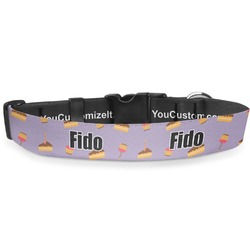 """Happy Birthday Deluxe Dog Collar - Double Extra Large (20.5"""" to 35"""") (Personalized)"""