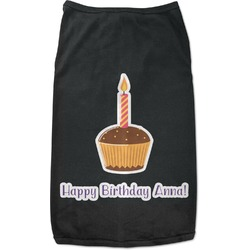 Happy Birthday Black Pet Shirt (Personalized)