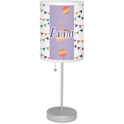 """Happy Birthday 7"""" Drum Lamp with Shade (Personalized)"""
