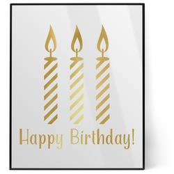 Happy Birthday 8x10 Foil Wall Art - White (Personalized)