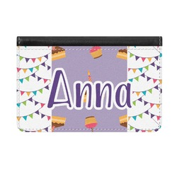 Happy Birthday Genuine Leather ID & Card Wallet - Slim Style (Personalized)
