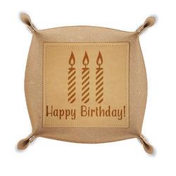 Happy Birthday Genuine Leather Valet Tray (Personalized)
