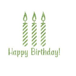 Happy Birthday Glitter Iron On Transfer- Custom Sized (Personalized)