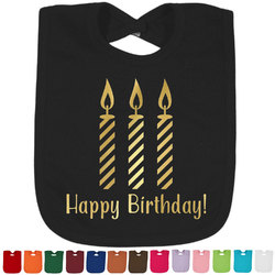 Happy Birthday Foil Baby Bibs (Select Foil Color) (Personalized)