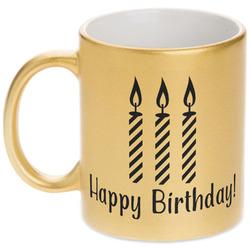 Happy Birthday Gold Mug (Personalized)