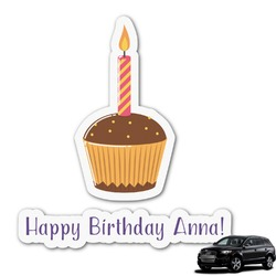 Happy Birthday Graphic Car Decal (Personalized)