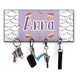 Happy Birthday Key Hanger w/ 4 Hooks w/ Name or Text