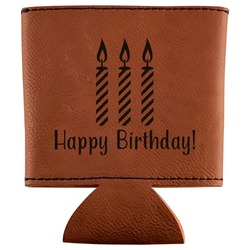 Happy Birthday Leatherette Can Sleeve (Personalized)