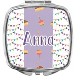 Happy Birthday Compact Makeup Mirror (Personalized)