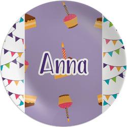 "Happy Birthday Melamine Plate - 8"" (Personalized)"