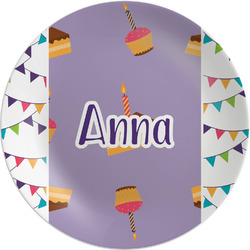 Happy Birthday Melamine Plate (Personalized)