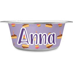 Happy Birthday Stainless Steel Dog Bowl (Personalized)