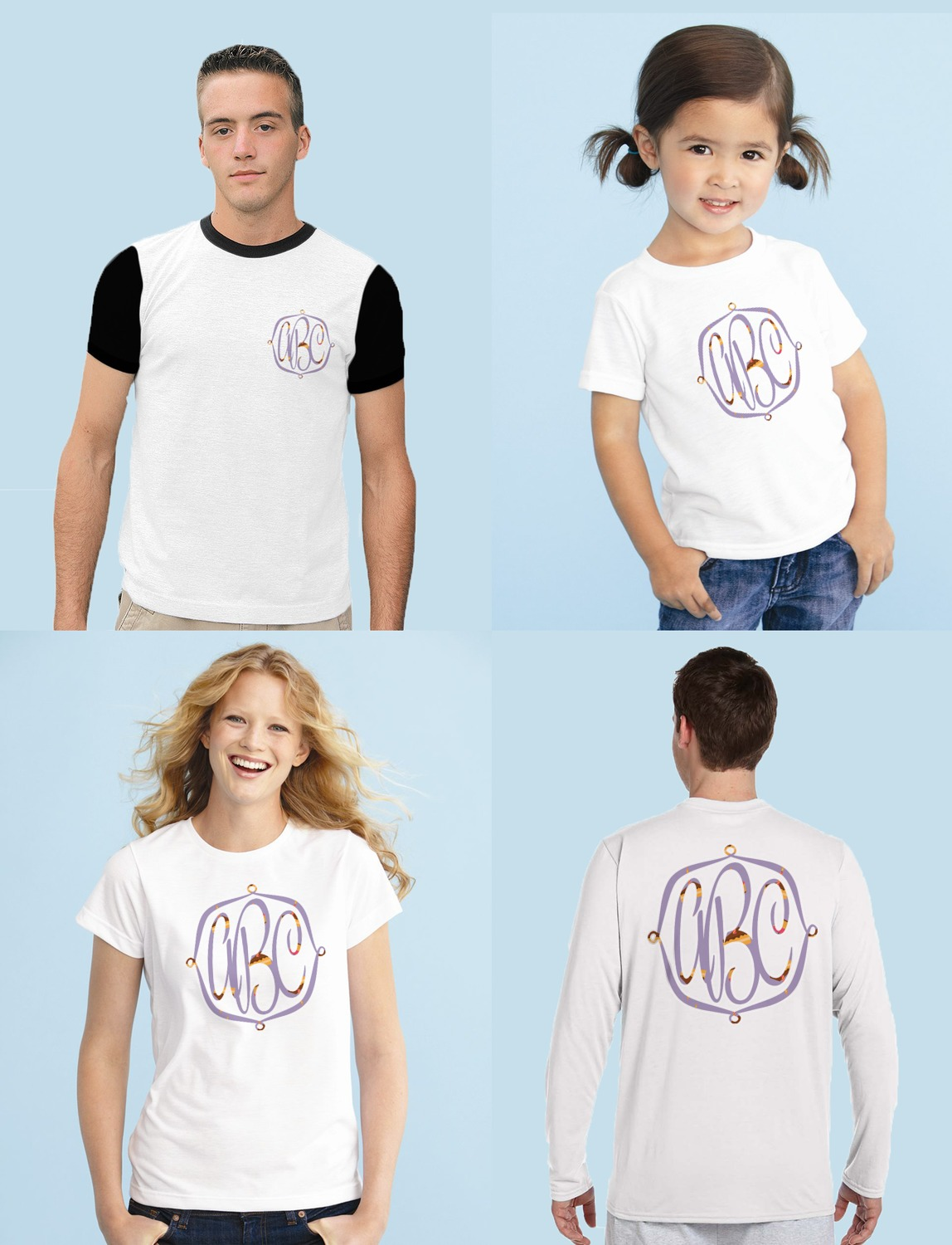 Happy Birthday Monogram Iron On Transfer Sizing Shirts