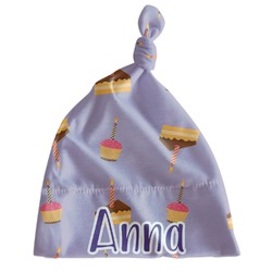 Happy Birthday Newborn Hat - Knotted (Personalized)