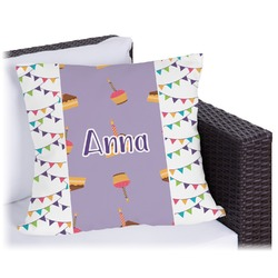 Happy Birthday Outdoor Pillow (Personalized)