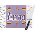 Happy Birthday Rectangular Glass Cutting Board (Personalized)