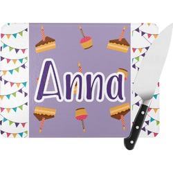 Happy Birthday Rectangular Glass Cutting Board (Personalized)