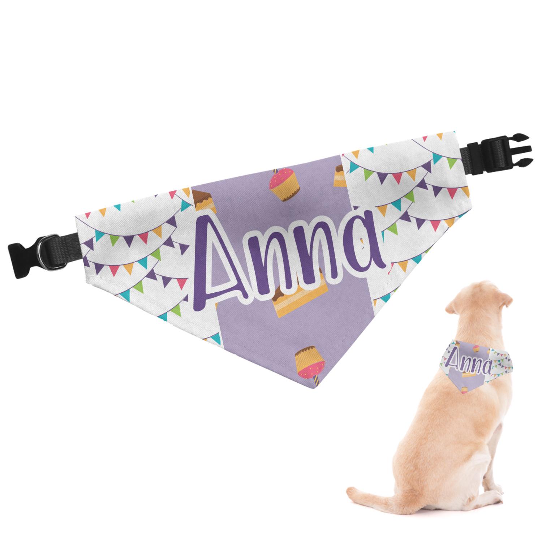 Happy Birthday Dog Bandana Large Personalized