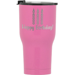 Happy Birthday RTIC Tumbler - Pink (Personalized)