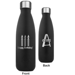 Happy Birthday RTIC Bottle - Black - Engraved Front & Back (Personalized)