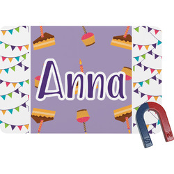 Happy Birthday Rectangular Fridge Magnet (Personalized)