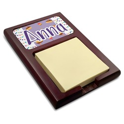 Happy Birthday Red Mahogany Sticky Note Holder (Personalized)