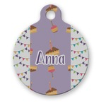 Happy Birthday Round Pet Tag (Personalized)