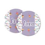 Happy Birthday Sandstone Car Coasters (Personalized)