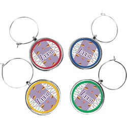 Happy Birthday Wine Charms (Set of 4) (Personalized)