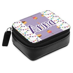 Happy Birthday Small Leatherette Travel Pill Case (Personalized)