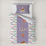 Happy Birthday Toddler Bedding w/ Name or Text