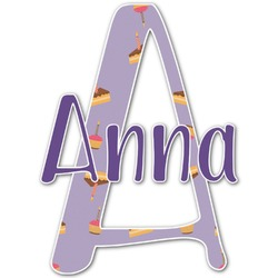 """Happy Birthday Name & Initial Decal - Up to 18""""x18"""" (Personalized)"""
