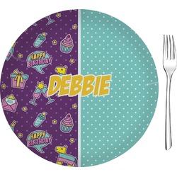 "Pinata Birthday 8"" Glass Appetizer / Dessert Plates - Single or Set (Personalized)"