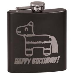 Pinata Birthday Black Flask Set (Personalized)